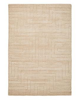 Carved Maze Wool Rug