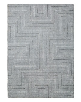 Carved Maze Wool Rug Large