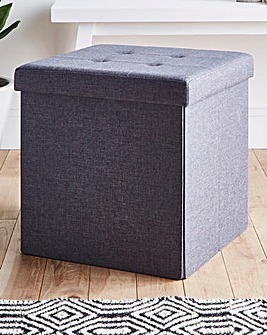 Charcoal Fabric Storage Cube