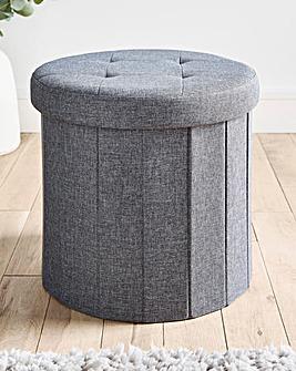 Charcoal Round Fabric Storage Box