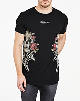 Religion Skull Wreath T-Shirt