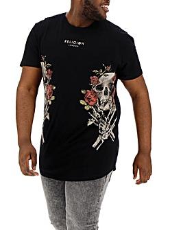 Religion Skull Wreath T-Shirt