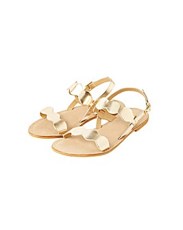 Monsoon MARLEY SCALLOP LEATHER SANDAL