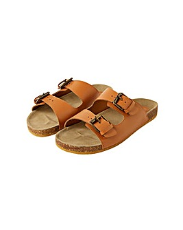 Monsoon LOLA LEATHER DOUBLE STRAP SANDAL