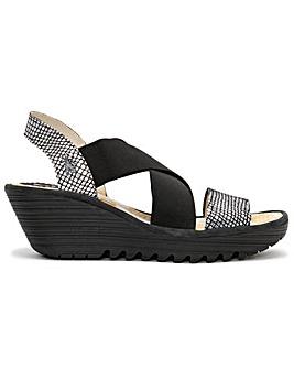 Fly London Yaji Cross Strap Sandals
