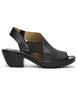 Fly London Wily Leather Elasticated Sandals Standard Fit