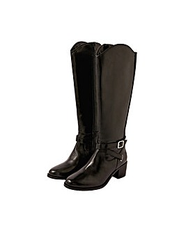 Monsoon Lisa Leather Buckle Riding Boots