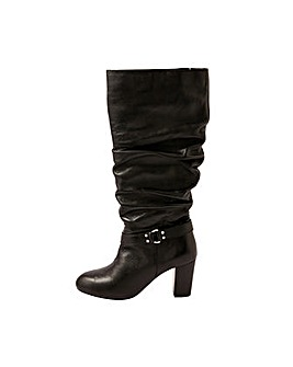 Monsoon BELLE BUCKLE SLOUCH LEATHER BOOT