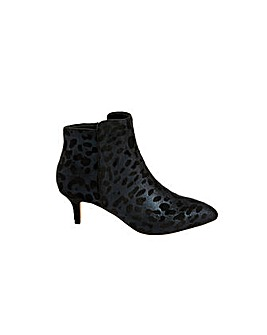 Monsoon Leopard Print Heeled Ankle Boots
