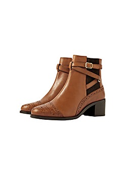 Monsoon Bethan Leather Brogue Boots