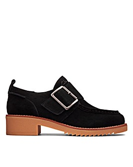 Clarks Eden Mid Monk Wide Fitting Shoes