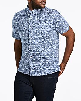 Ben Sherman Short Sleeve Stencil Floral Shirt