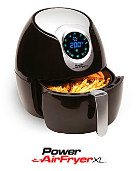 Power 5 Litre Black Air Fryer XL