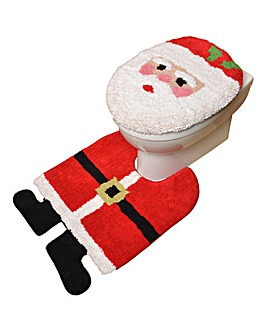 Santa Toilet Seat Cover and Pedestal