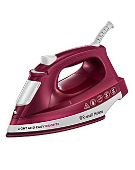 Russell Hobbs 24820 2400W Light and Easy Bright Mulberry Steam Iron
