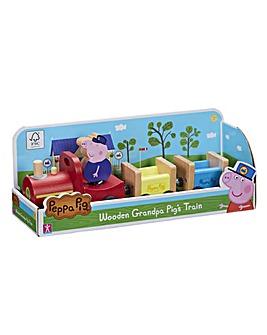 Peppa Pig Wooden Grandpa Pigs Train