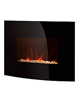 Warmlite Black Wall Mounted Fire