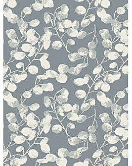 Blossom Leaf Silver Rug