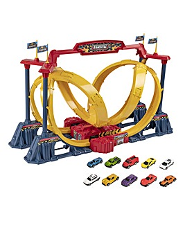 Teamstez Turbo Twister Playset with 10 Cars
