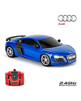 1:18 Audi R8 GT Remote Control Car - Blue 2.4Ghz