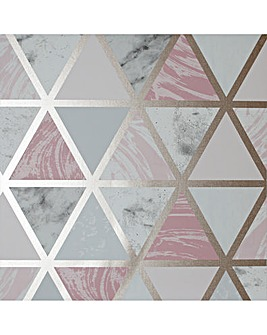 Arthouse Marble Geo Wallpaper