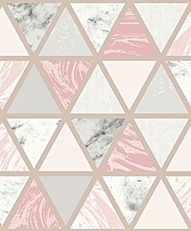 Arthouse Marble Geo Wallpaper