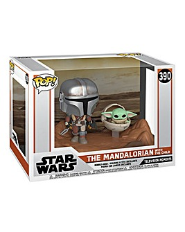 POP! Vinyl: Star Wars Mandalorian and Child