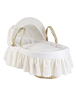 Clair De Lune Broderie Anglaise Palm Moses Basket