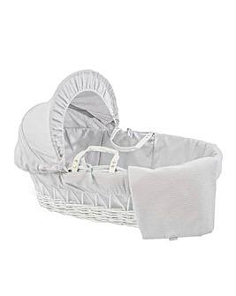 Clair De Lune Cotton Dream Wicker Moses Basket