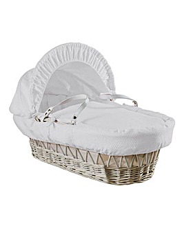 Clair De Lune Cotton Dream Wicker Moses Basket