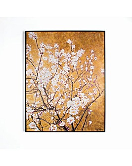 ORIENTAL BLOSSOM FRAMED HPAINTED CNVS