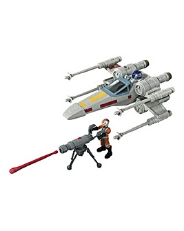 Star Wars Mission Fleet Stellar Class Luke Skywalker X-wing Fighter
