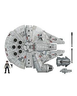 Star Wars Mission Fleet Han Solo Millennium Falcon Figure and Vehicle