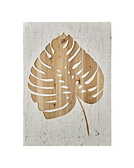 TROPICAL LEAF WOOD PANEL