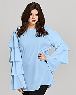 AX Paris Layered Sleeve Blouse