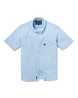 Voi Tarly Seersucker Stripe Short Sleeve Shirt Long