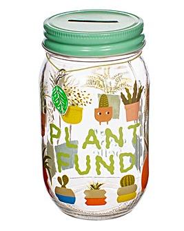 Sass and Belle Plants Slogan Money Jar
