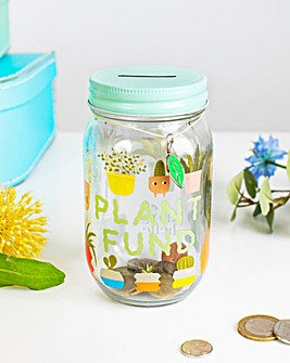 Sass and Belle Plants Slogan Money Jar