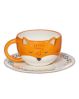 Sass and Belle Fox Cup and Saucer