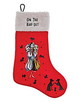 Disney Cruella Devil Christmas Stocking