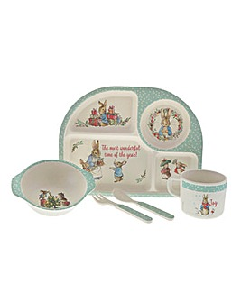 Peter Rabbit Bamboo Christmas Dinner Set