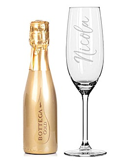 200ml Gold Bottega & Flute Set
