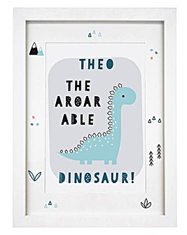 A-Roar-Able Dinosaur Framed Print