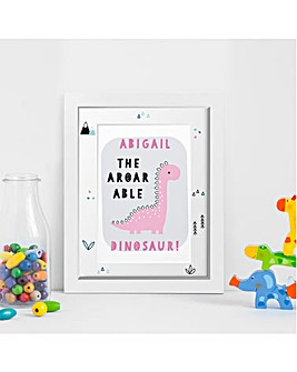 A-Roar-Able Dinosaur Framed Print