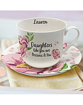 Sentiments Cup and Saucer