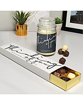 Thinking Of You Candle Jar and Truffles