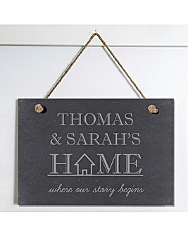 Where Our Story Begins Slate Sign