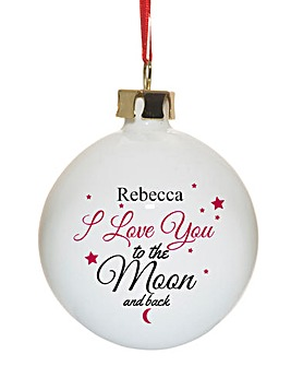 To The Moon & Back Bauble