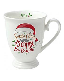 Santa Christmas Carol Mug