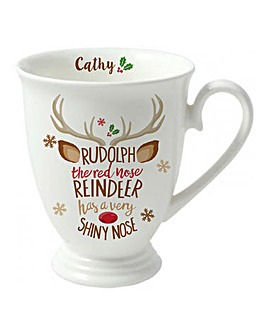 Reindeer Christmas Carol Mug